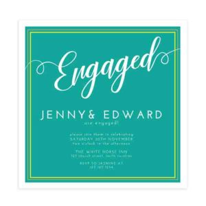 Engagement Party Invite Template in Photoshop Format