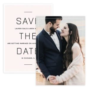 Modern Lines Save the Date