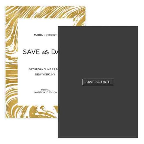 Marbled Style Save the Date Template in Photoshop Format