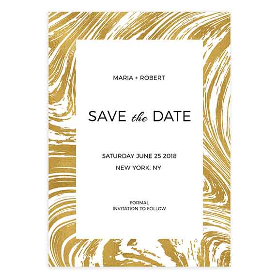 marbled save the date template