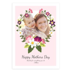 Floral DIY Mother's Day Card Template