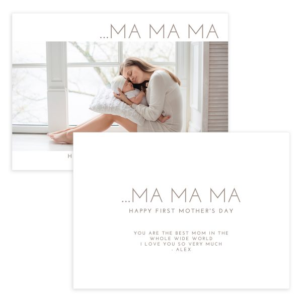 Photoshop Mother's Day Card Template