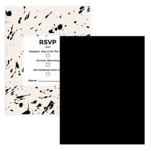 RSVP Card Design with Speckled look