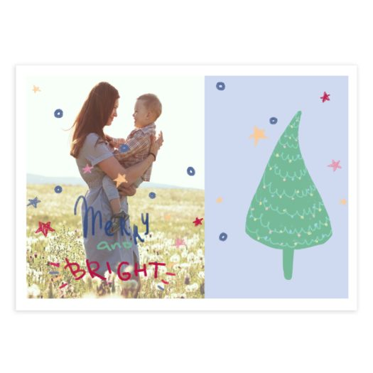 Merry And Bright Christmas Card Template