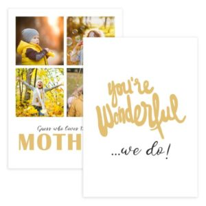 PSD Mother's Day Card Template