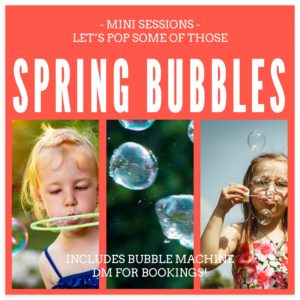 bubble pop mini session marketing template for photographers