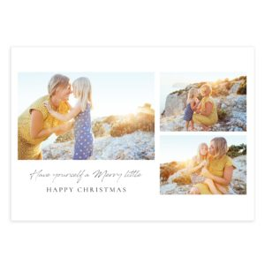 Modern Clean style holiday card template