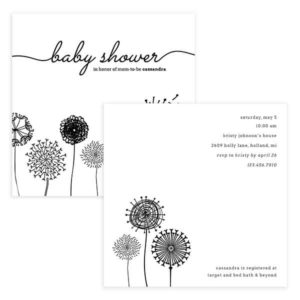 flower baby shower invitation template