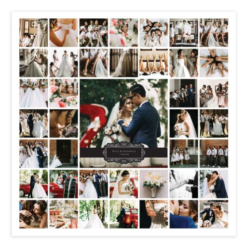 20X20 Wall Art Collage Template for Photographers