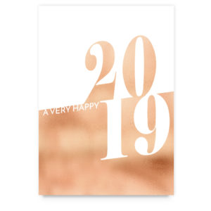 Rosegold 2019 New Years Card Template