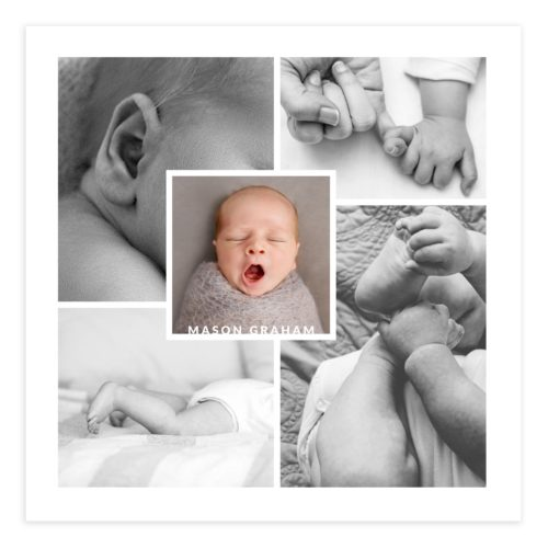 Newborn Photoshop Collage Template