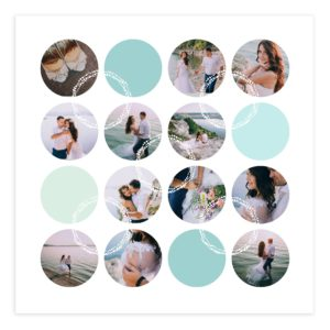 20 X 20 Photoshop Photo Collage Template