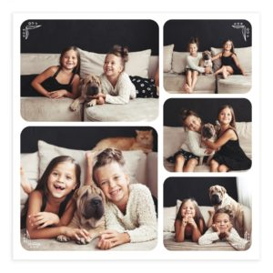 Family Photography Wall Art Template for Photoshop