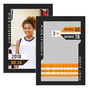Womens Basketball Trader Card