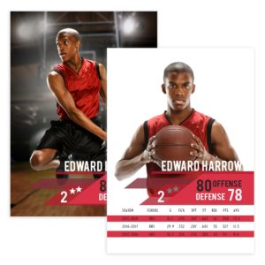 Basketball Trader Card Template