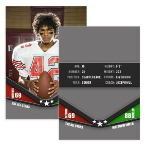 Football Trader Card Template