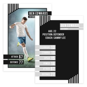 soccer player cards template