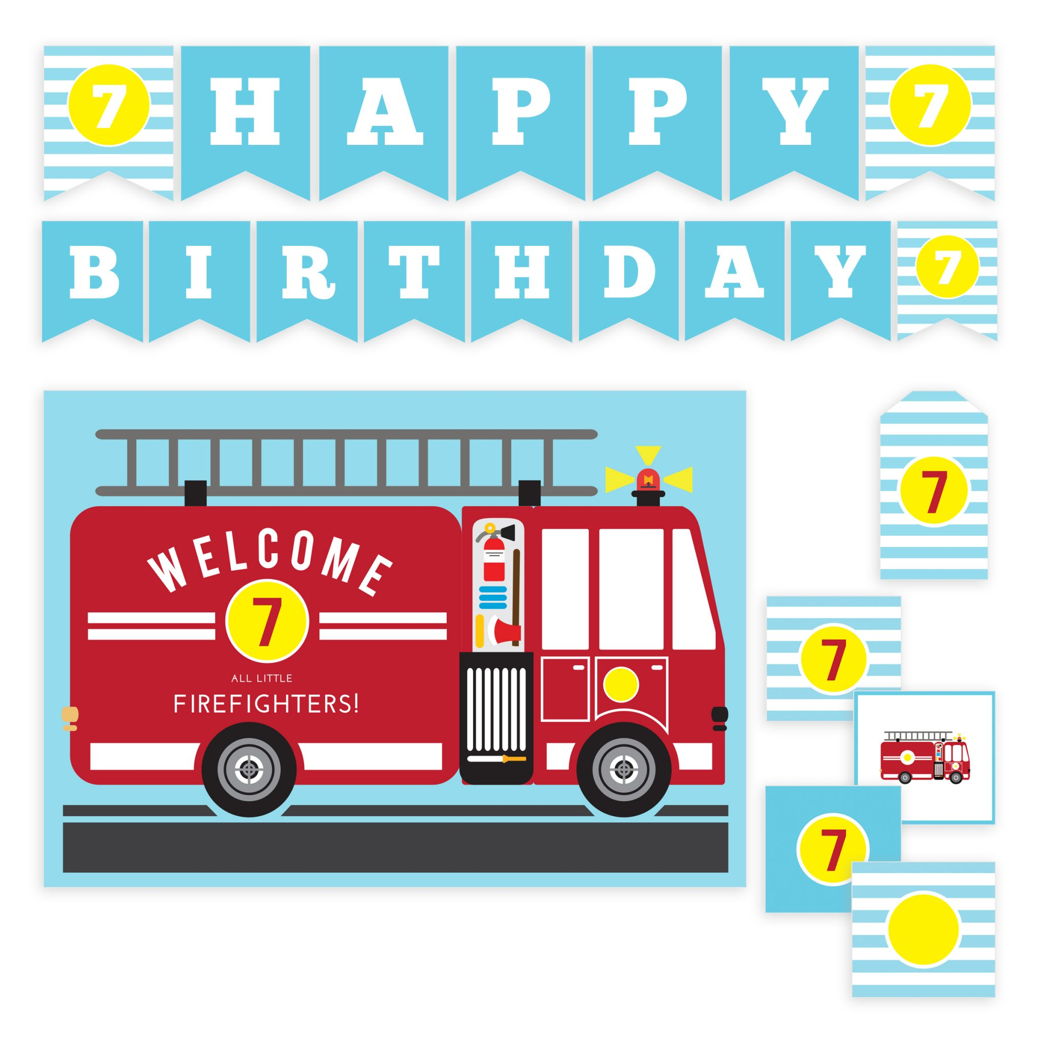 graphic relating to Fire Truck Template Printable named Hearth Truck Birthday Printable Bash Fixed