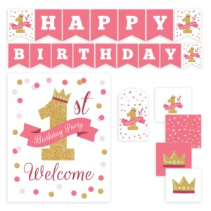 Pink Birthday Party Printables Set