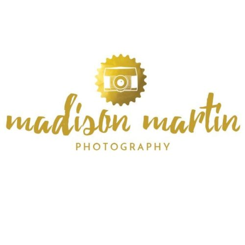 Photographer logo design template with a camera