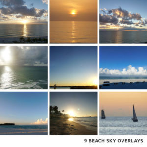Beach sky overlays for photos