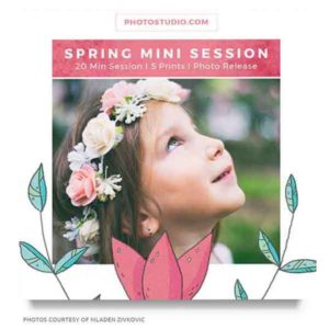 spring mini sessions marketing