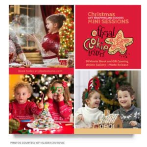 christmas photography marketing board