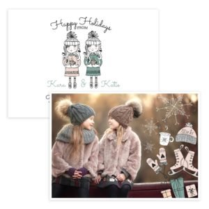Girls Christmas Card Template for Photographers
