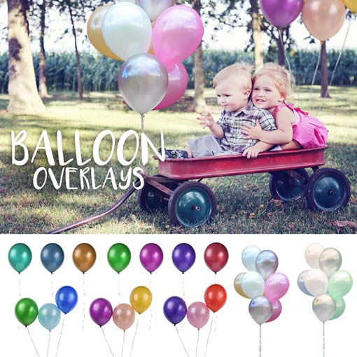 balloon overlays for kids photos or event photo overlays