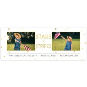Mini Session 4th of July Marketing Board Template