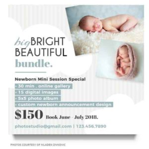 newborn marketing board template