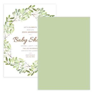 floral newborn invite template