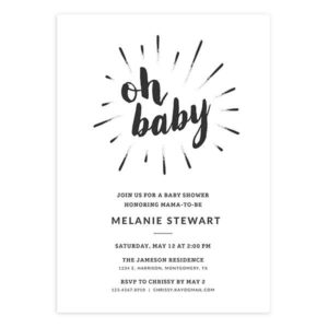 oh baby newborn announcement template
