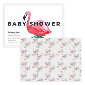 flamingo baby shower template
