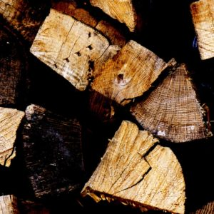 Wood Pile of logs stock photo
