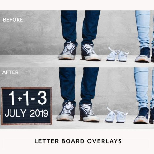 Letter Board PNG Overlays for Photographers