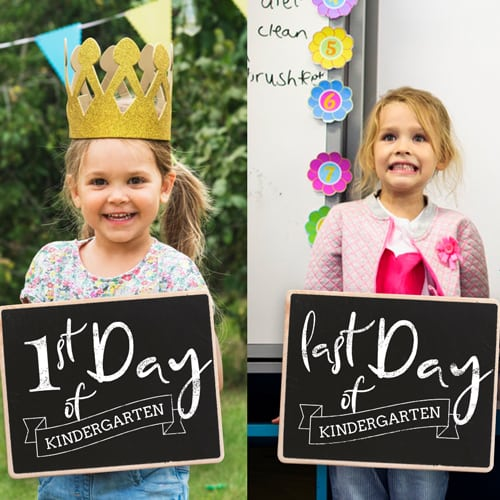 1st day of school and last day of school chalkboard overlays