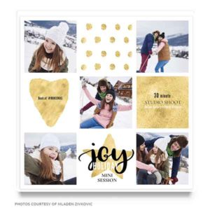 Holiday Mini Session Marketing Template