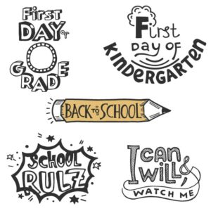 Back to School Word Art PNG for Scrapbooking