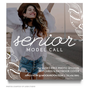 senior model call marketing board template