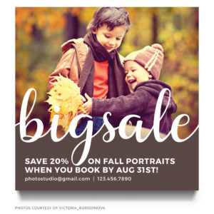 Fall Mini sessions template for photographers