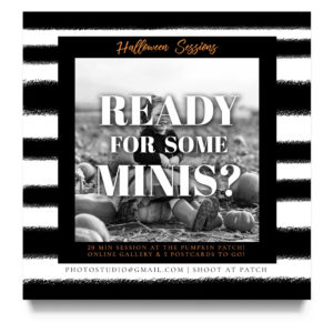 halloween mini session template