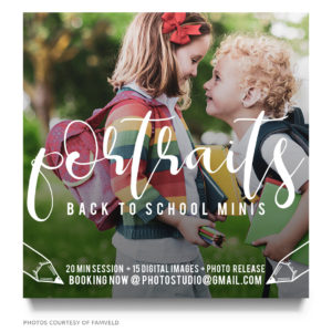 back to school portrait ad template