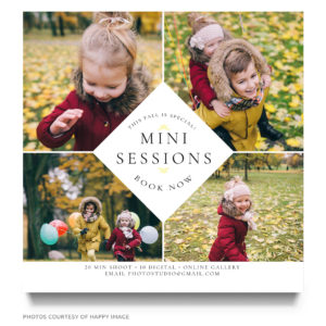 Fall mini session ad template for photo sessions