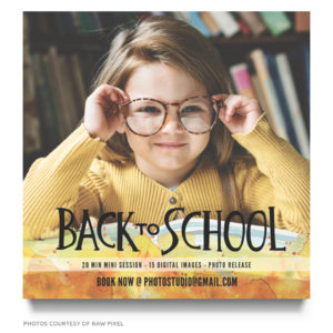 school mini portraits ad template