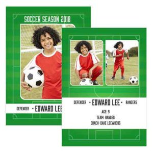 Soccer Sports Trader Card Template