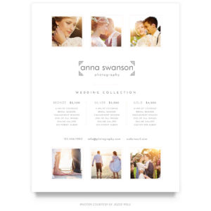 white wedding price guide template