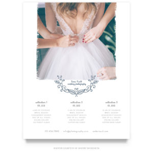wedding price guide template for photographers
