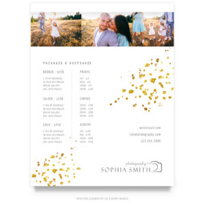 family portraits pricing guide template