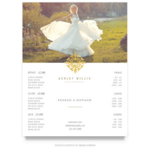 elegant wedding price guide template